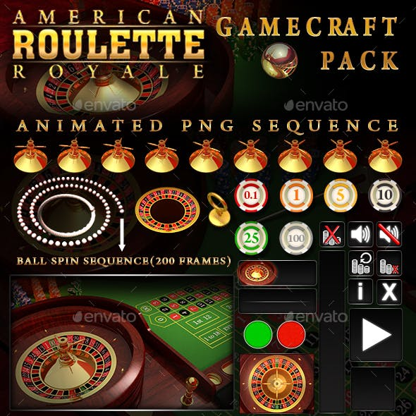 American Roulette Royale - Game Assets