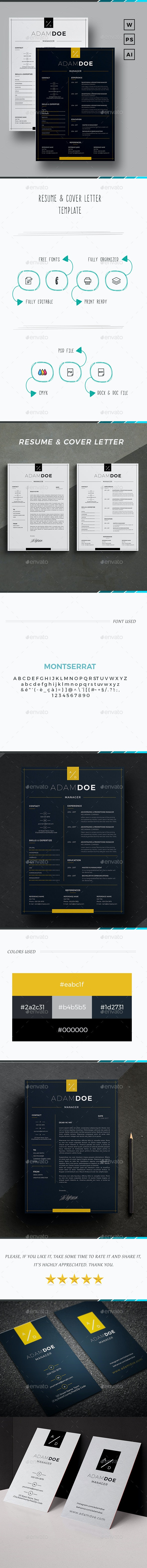 Resume - Adam Doe - - Resumes Stationery