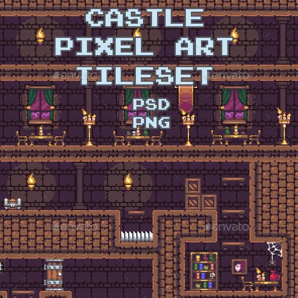 Castle Pixel Art Tileset