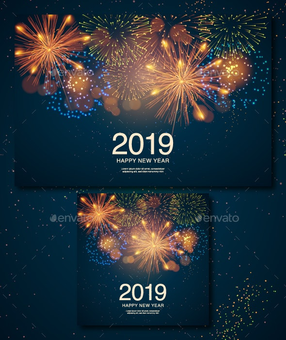 Poster with Fireworks - Miscellaneous Seasons/Holidays