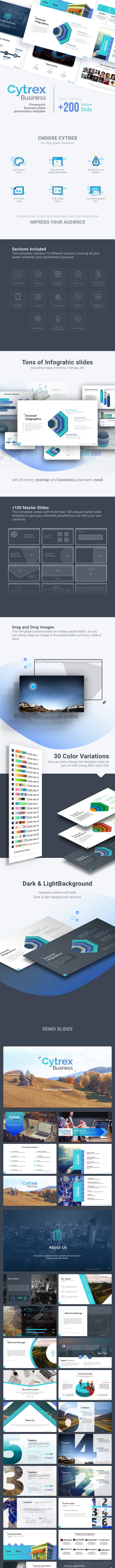 Cytrex - Business Plan PowerPoint Template - Business PowerPoint Templates