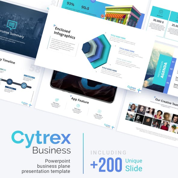 Cytrex - Business Plan PowerPoint Template