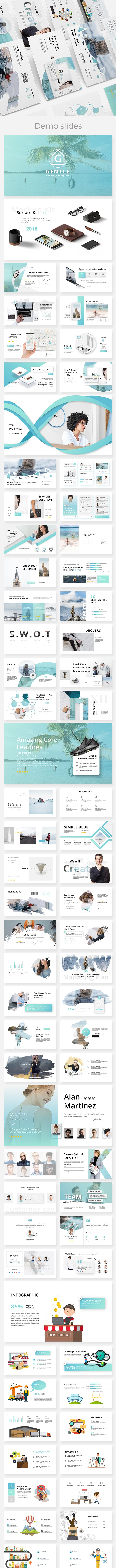 Gentle Moderm & Creative Powerpoint Template - Creative PowerPoint Templates