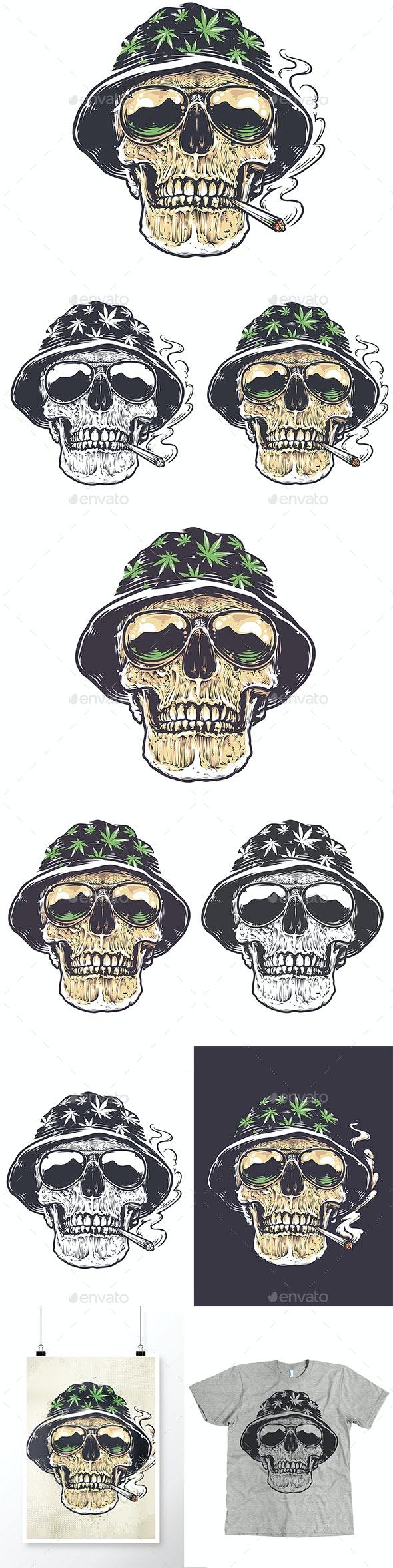 Rastaman Skull | Vector Art - Tattoos Vectors