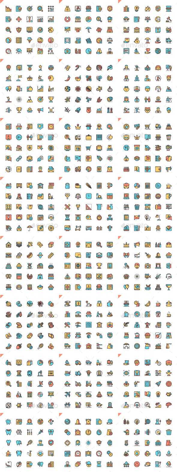 Flat Line Icons - Icons
