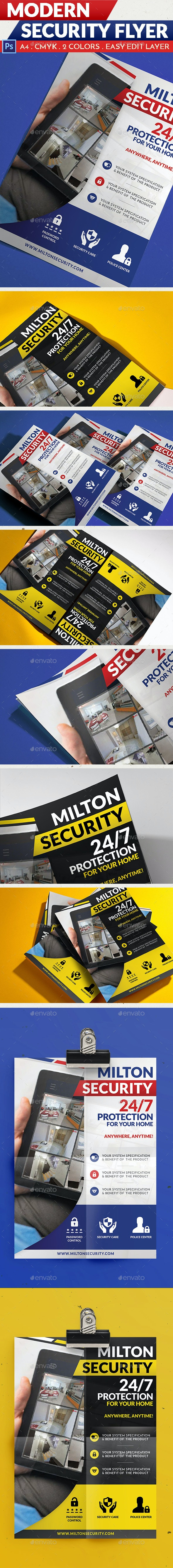 Modern Security Flyer - Corporate Flyers
