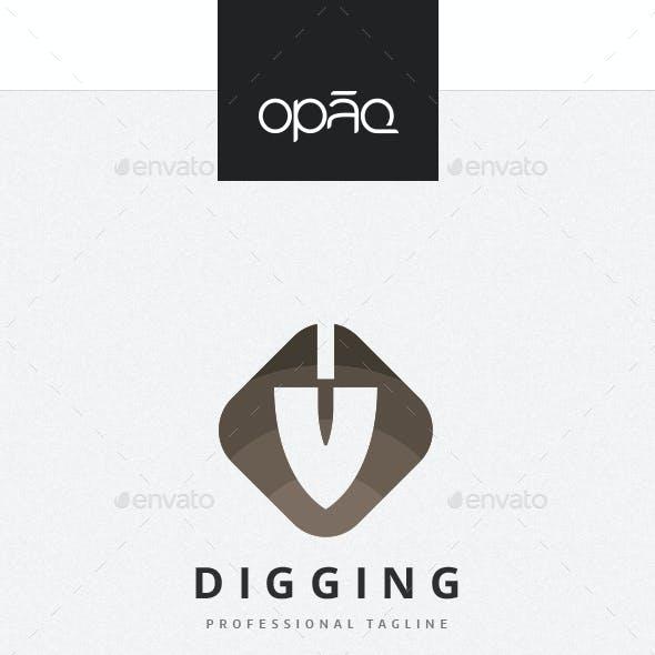Digging Shovel Logo