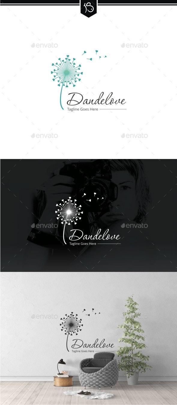 Dandelove - Dandelion Logo Template - Nature Logo Templates