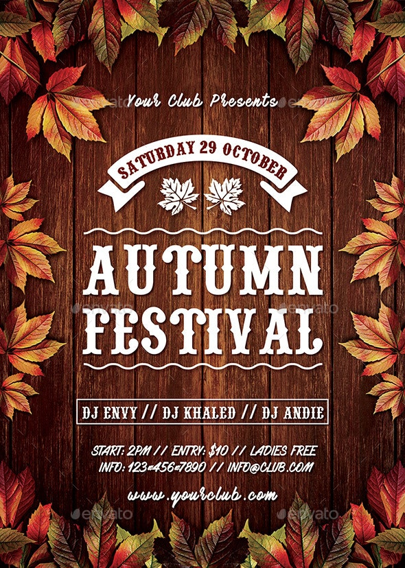 Autumn Fall Festival Flyer - Events Flyers