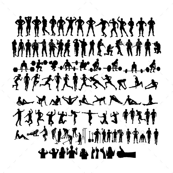 Human Activity Silhouettes - Sports/Activity Conceptual