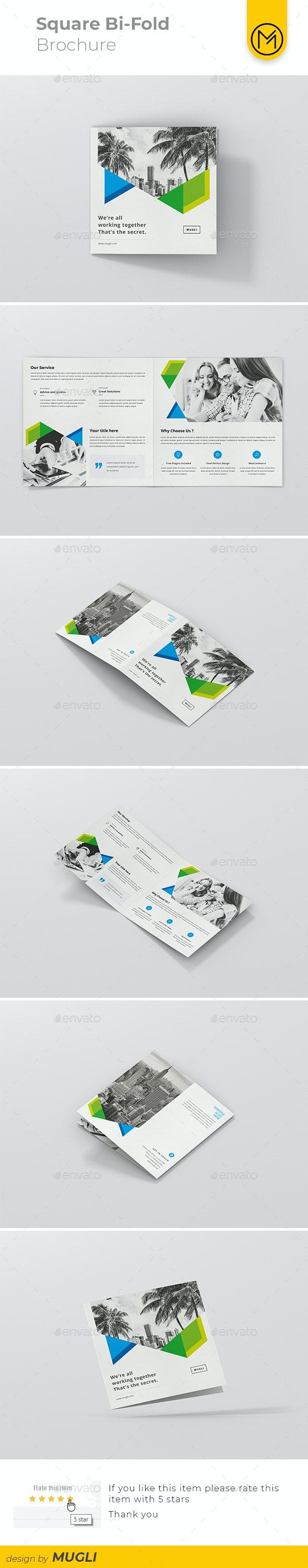 Square Bi-Fold Brochure - Corporate Brochures