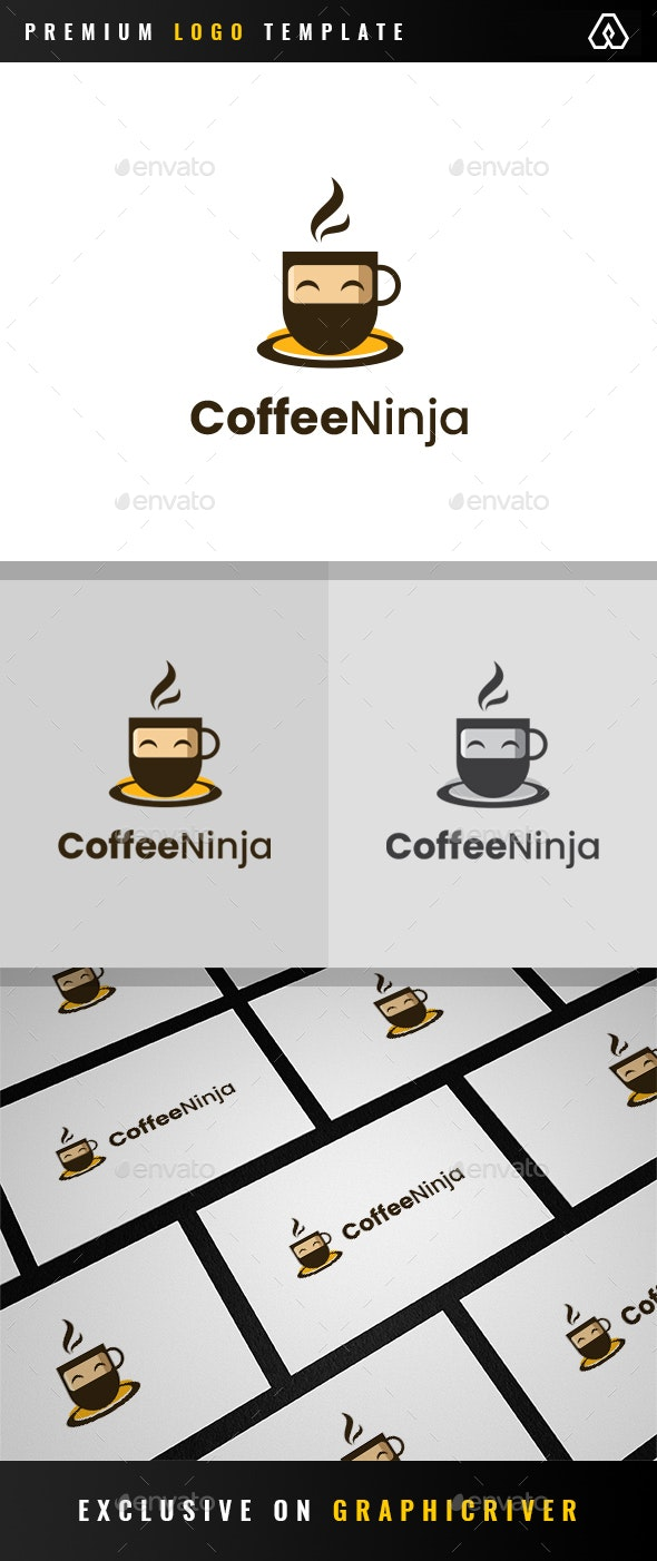 Coffee Ninja Logo - Objects Logo Templates