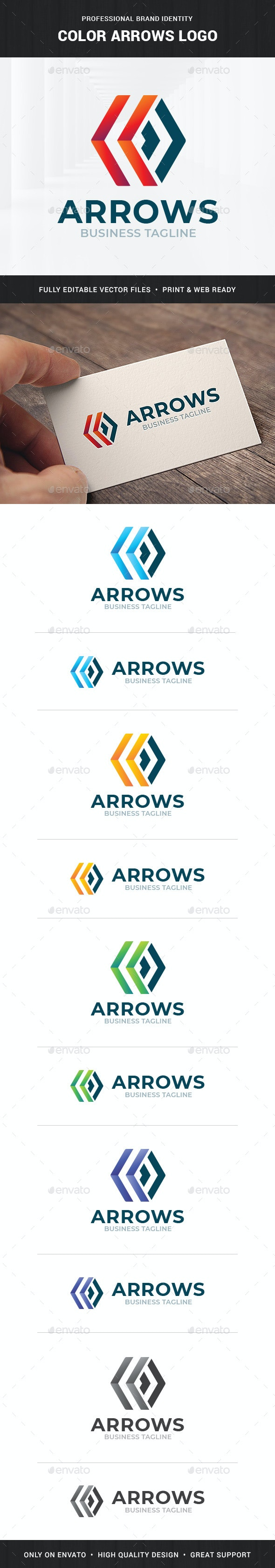 Color Arrows Logo Template - Symbols Logo Templates