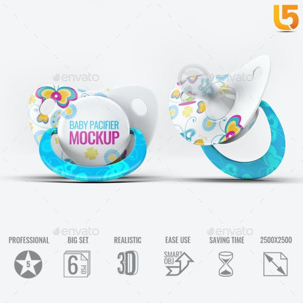 Baby Pacifier Mock-Up