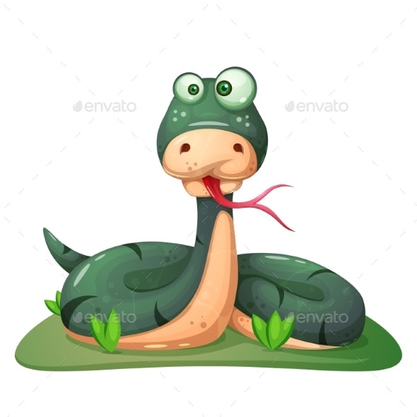Snake Illustration - Animals Characters