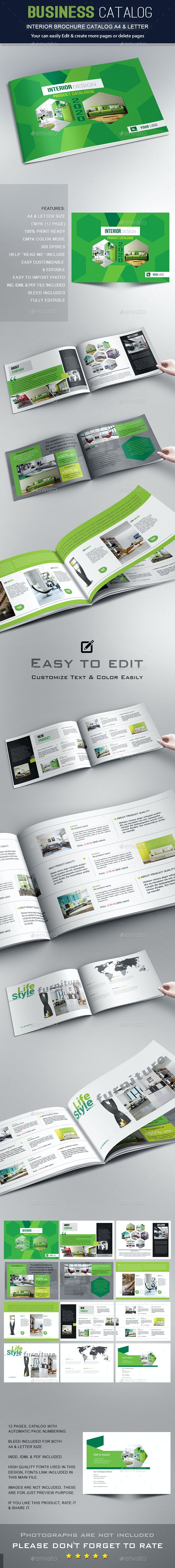 Interior Brochure / Catalogs / Portfolio - Brochures Print Templates