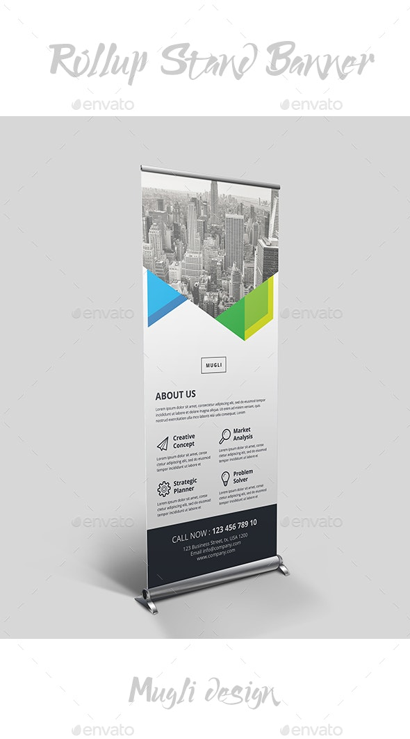 Rollup Stand Banner - Signage Print Templates