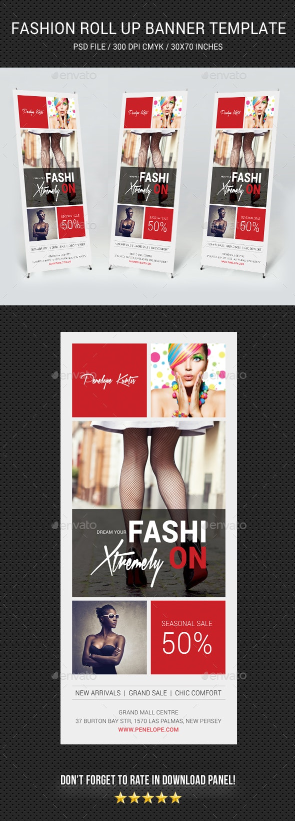 Fashion Roll-Up Banner 08 - Signage Print Templates