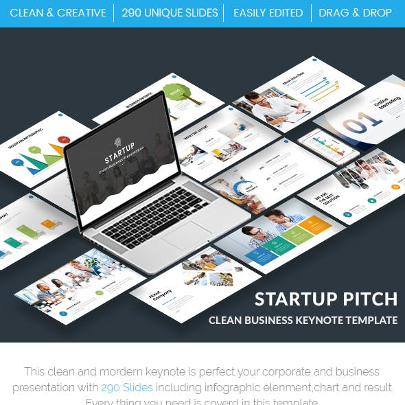 Startup Pitch - Clean Business Keynote Template