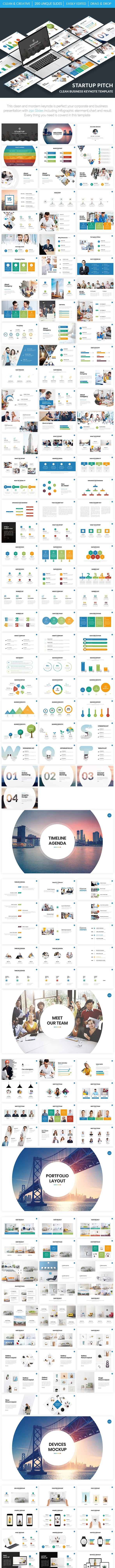 Startup Pitch - Clean Business Keynote Template - Business Keynote Templates