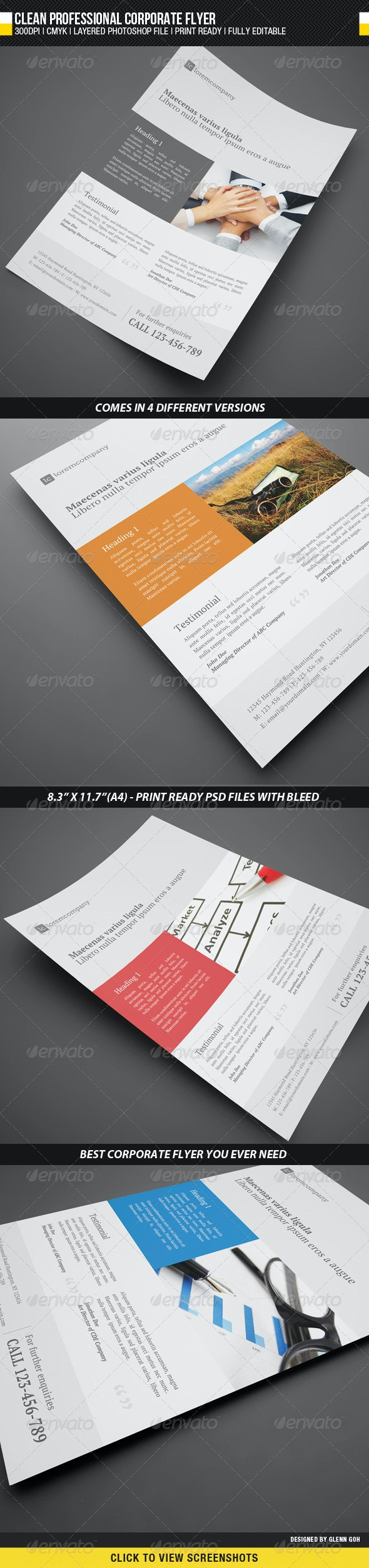 Clean Professional Corporate Flyer - Corporate Flyers