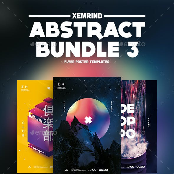 Abstract Flyer/Poster Template Bundle 3