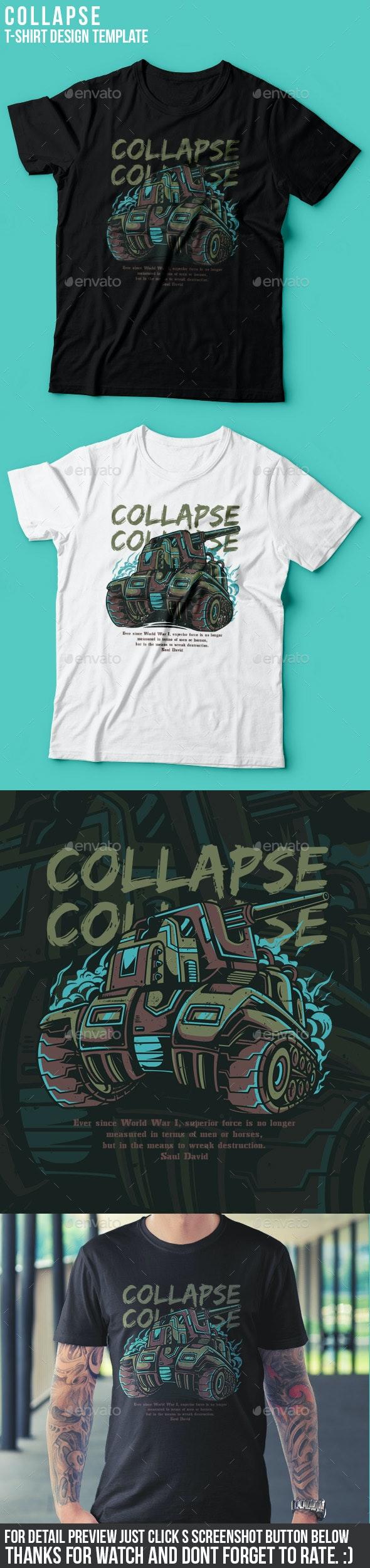 Collapse T-Shirt Design - Grunge Designs