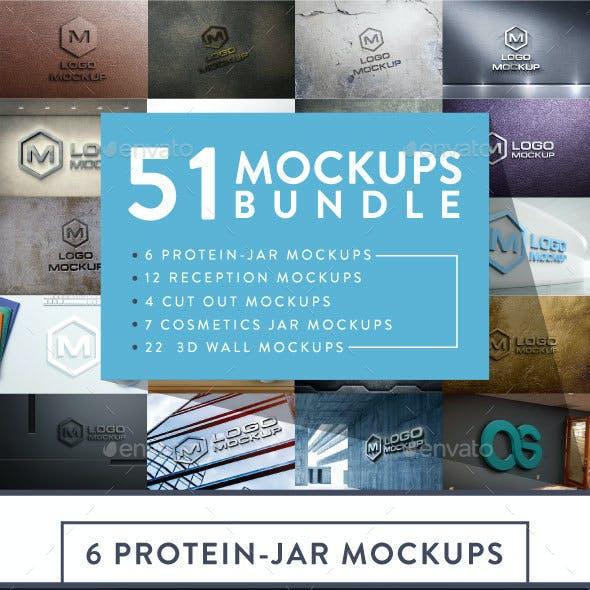 51 Logo Mock-up Bundle