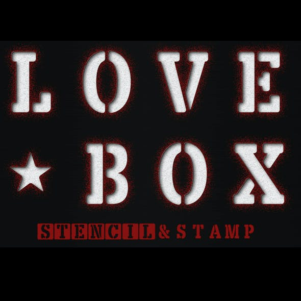 LOVE BOX Stencil & Stam