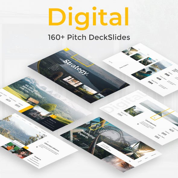 Digital Premium Google Slide Template