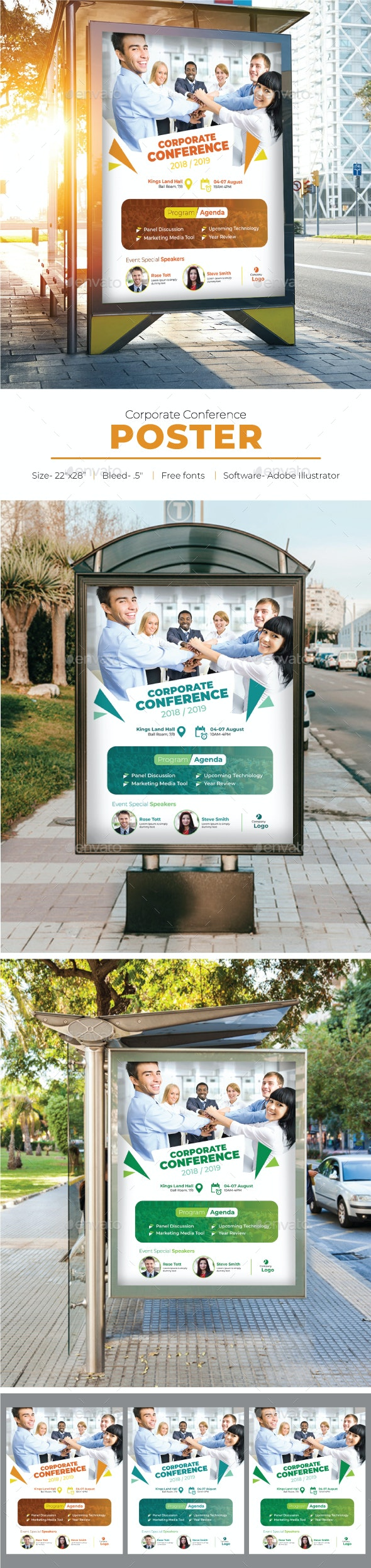 Corporate Conference Poster - Signage Print Templates