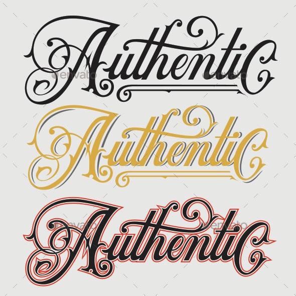 Authentic Hand Drawn Lettering - Miscellaneous Vectors
