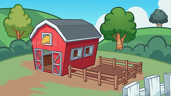 Cartoon Farm - Buildings Objects