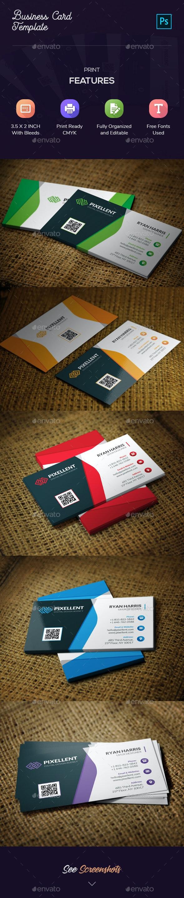 Corporate Business Card Template - Corporate Business Cards
