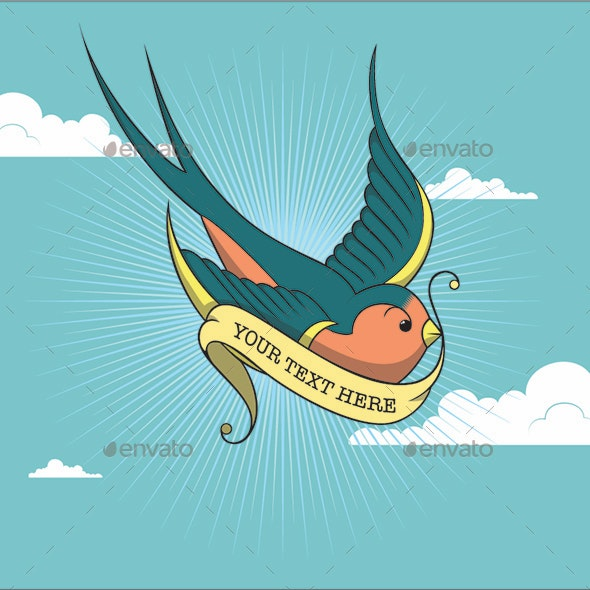 Flying Swallow - Animals Characters