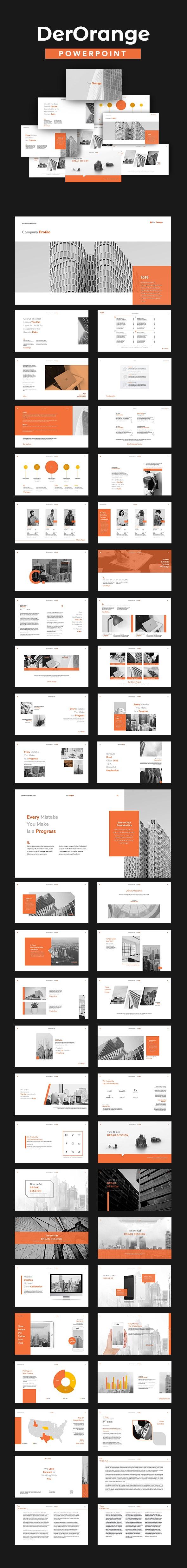 Der Orange Powerpoint - Business PowerPoint Templates