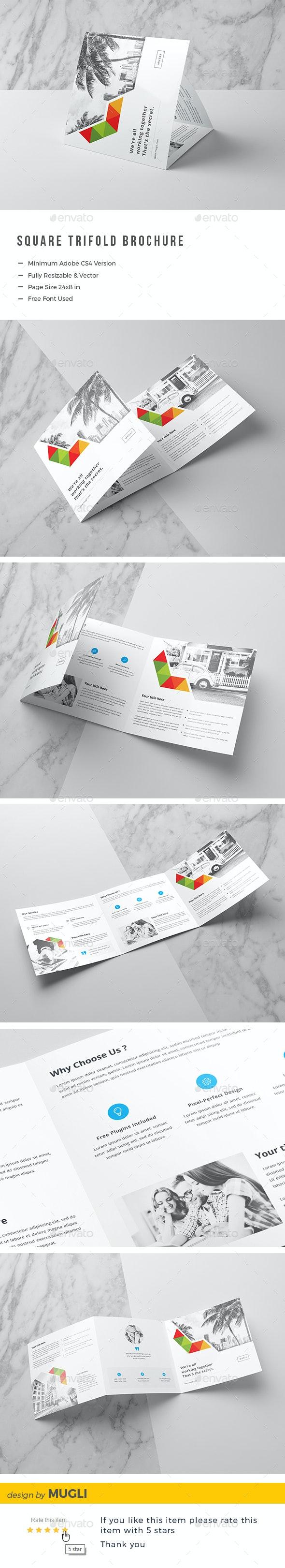 Square Tri-Fold Brochure - Corporate Brochures