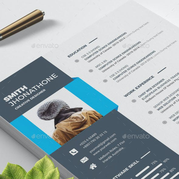 Resume Templates Word Graphics, Designs & Templates