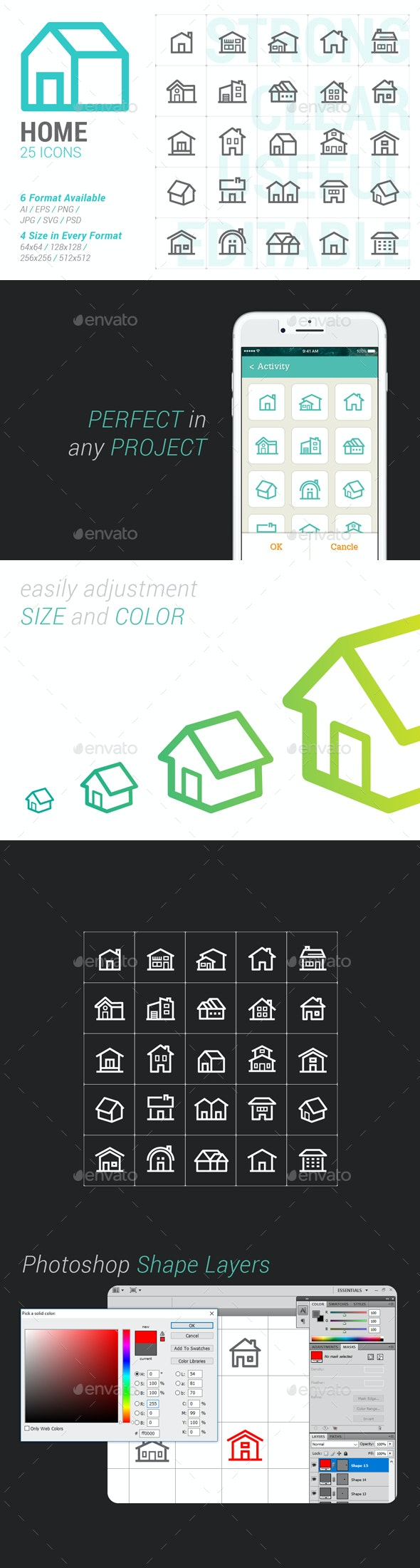 Home Mini Icon - Buildings Objects