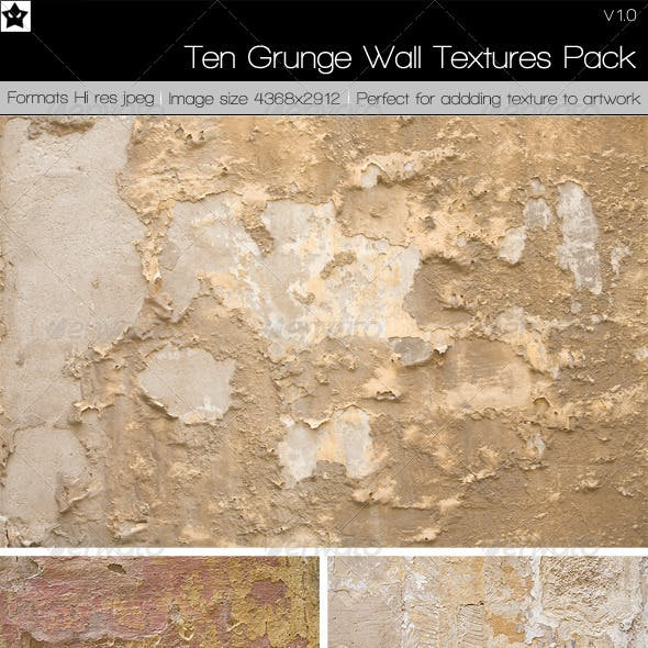 10 Grunge Wall Textures Pack 1