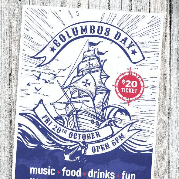 Columbus Day Flyer / Poster Templates