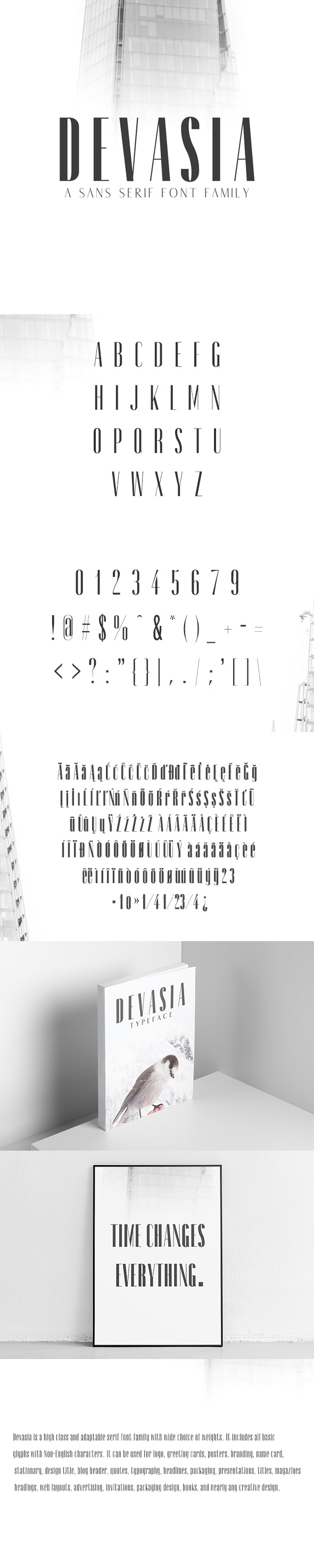 Devasia Sans Serif Font Family Pack - Sans-Serif Fonts
