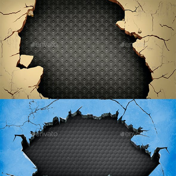12 Cracked Background