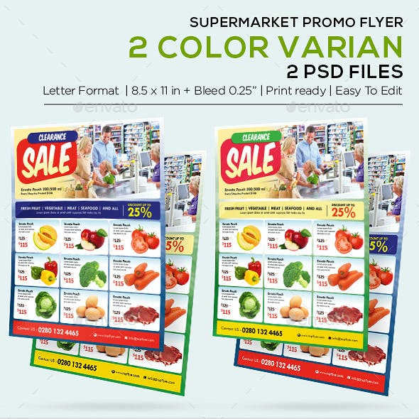 Supermarket Flyer Graphics, Designs & Templates