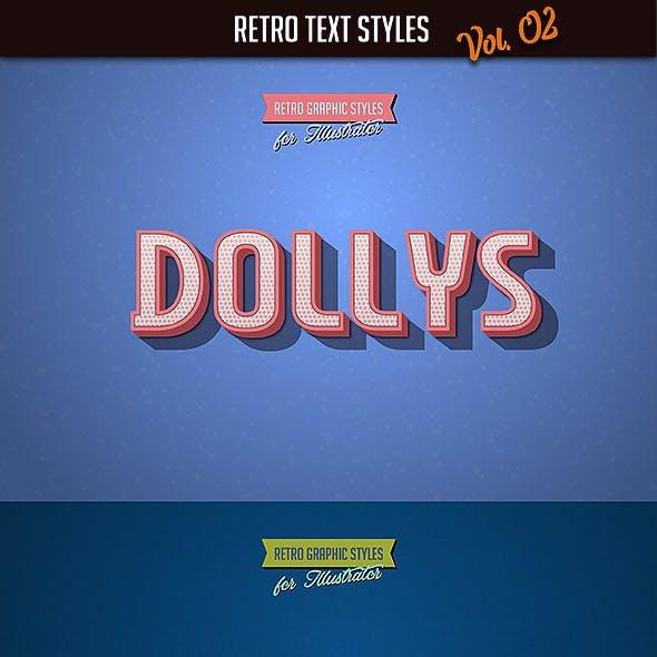 10 Retro Text Styles vol. 02