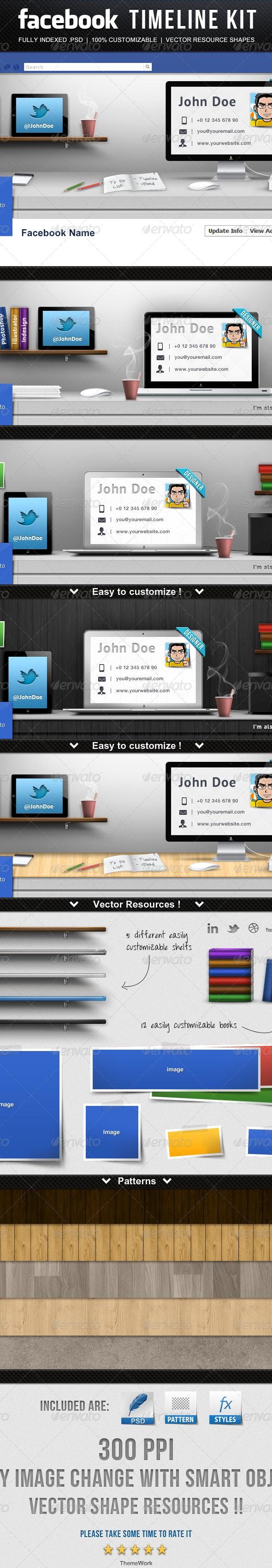 Facebook Timeline Kit  - Facebook Timeline Covers Social Media