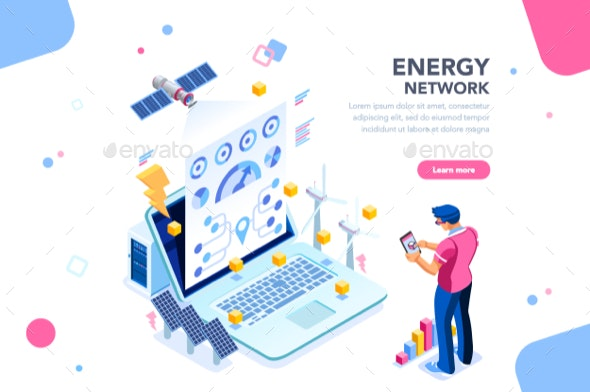 Energy Network Web Page Banner - Web Technology
