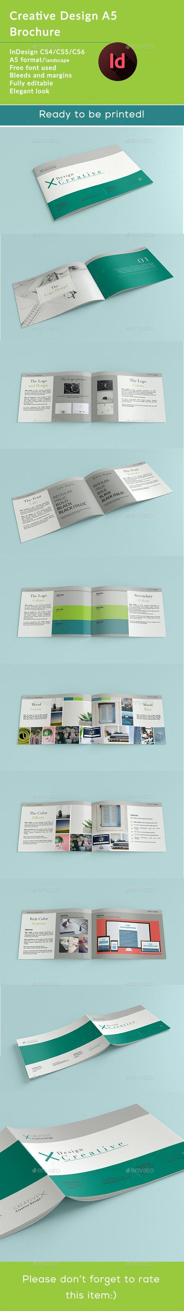 A5 Design Creative - Brochures Print Templates