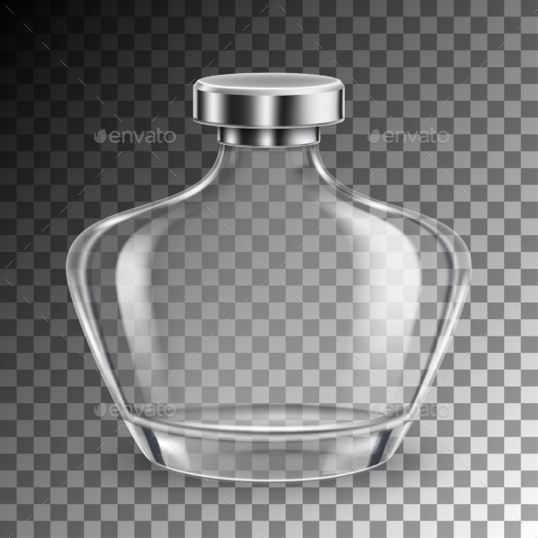 Perfume Glass Bottle - Man-made Objects Objects