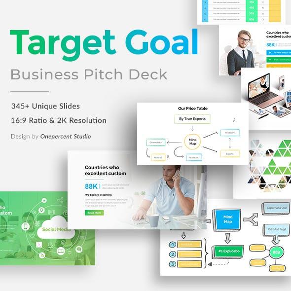 Target Goal Pitch Deck Powerpoint Template